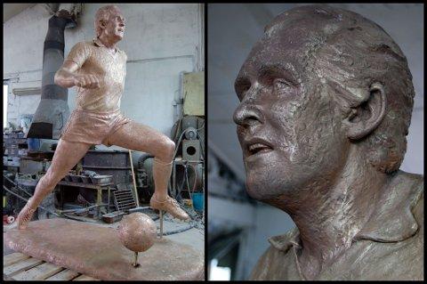 """STEGET: Tom Lund-statuen """"Steget"""" er nå hel igjen etter at vandaler kappet av hodet. FOTO: ERIK BØRSILD"""
