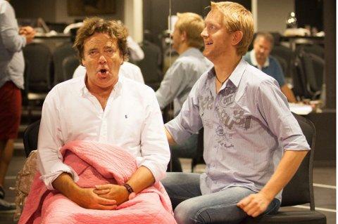 STAS: Morten Remberg (t.h.) er storfornøyd med å spille mot Øivind Blunck Chat Noirs storsatsing «Jeppe».