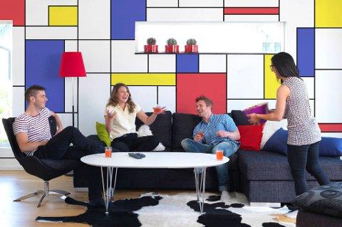«Colourblocking» slik vi kjenner den fra opphavsmannen, Piet Mondrian.