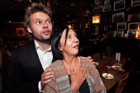 Lars K. Giæver og Grete A. Nilsen på valgvake.