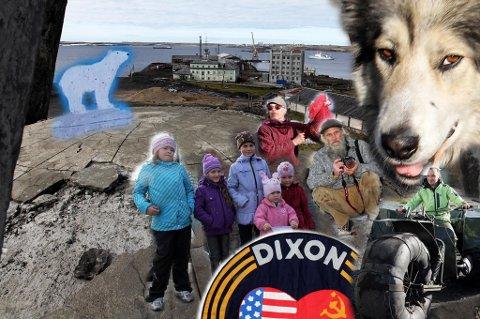 ANDRE SIDEN AV KLODEN: Dikson er Russlands nordligste bebyggelse. Den ligger langt øst. I Sibir. På andre siden av jordkloden. I hvert fall sett fra byens største minnesmerke, som hedrer de 67 som falt da tyskerne kom til Sibir under andre verdenskrig. Isbjørn og polarrev vandrer i gatene, ungene har svære hunder som passer på dem. Livet er annerledes i Dikson!