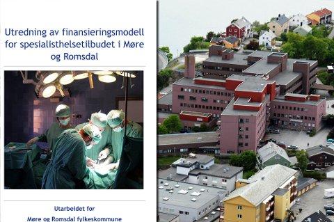 Sykehuset i Kristiansund og de andre delene av Helse Møre og Romsdal har fått for lite i forhold til sykehusene i Trøndelag viser ny rapport.