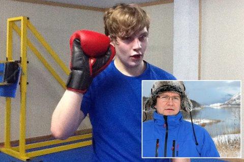 DØDE ETTER HODESKADER: Jonas (20) segnet om på trening og døde knappe fire dager senere. Faren, Torkjell Andersen (innfelt), bærer likevel ikke nag mot noen.