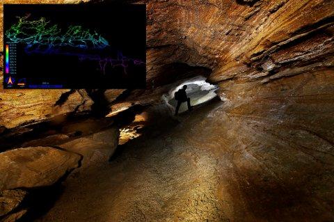 Grotten består av en labyrint av ganger.