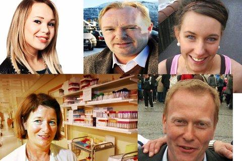NOEN NOMINERTE Agnete Johnsen, Per Sandberg, Marte Dalelv, Anne Husebekk og Knut Eirik Dybdal er de første fem nominerte til Årets Nordlending. Hvem blir de 5 siste. Du bestemmer.