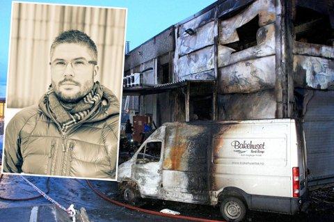 Emil Rakoczy, daglig leder i IT-firmaet Diode i Tromsø, gikk inn i det brennende Bakehuset i Tromsø for å redde datautstyret til Bakehuset.