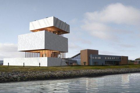 SKISSE: Slik så arkitektene for seg et kvenmuseum i Vadsø. Det har blitt liggende på tegnebenken.