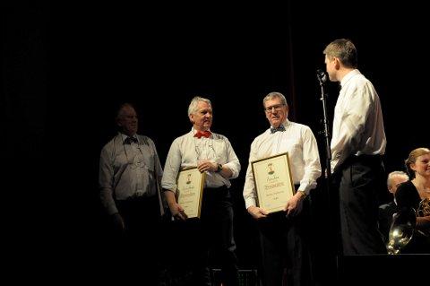 Æresmedlemmer: Erik Haraldseth, Rune Hansen og Svein Nørve ble utnevnt til æresmedlemmer i HUK.