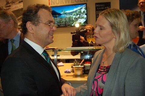 Sylvi Listhaug møtte den tyske landbruksministeren fredag, under den internasjonale messen Grüne Woche.
