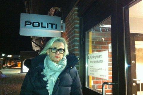 ADVOKAT: Gunhild Lærum etter at hun har vært med sin klient i avhør. FOTO: PER STOKKEBRYN