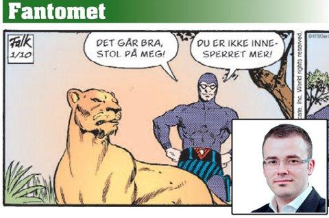ÅNDEN BØR GÅ: Spaltist Thomas K. Føre mener at Fantomet har utspilt sin rolle i avisformatet.