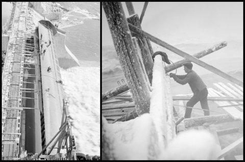 HMS-reglene var ikke oppfunnet da kraftstasjonen på Rånåsfoss ble bygget for snart hundre år siden. Arbeiderne ble kun sikret med hvert sitt tau. Likevel var det bare to arbeidere som døde på jobb.