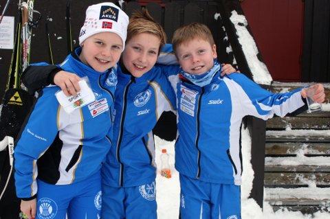 Henrik Østerhus (11), Lars Petter Fremstad (12) og Martin Olstad (11).