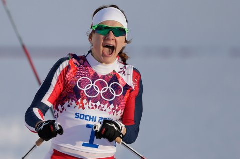RASKEST: Ingen gikk fortere enn Maiken Caspersen Falla på OL-sprinten. FOTO: REUTERS
