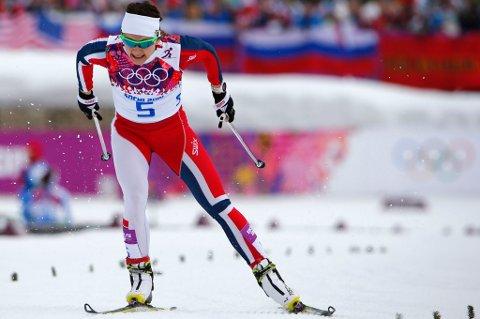 RASK: Ingen gikk fortere enn Maiken Caspersen Falla på prologen i OL-sprinten. FOTO: REUTERS