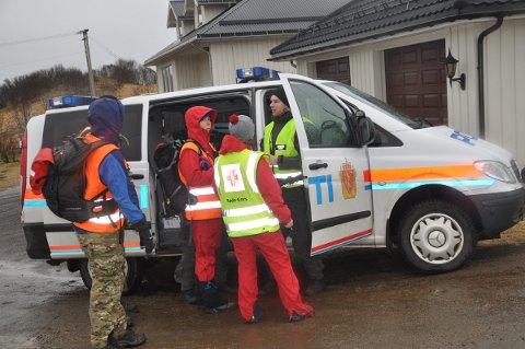 Politi og Røde kors planlegger søket.