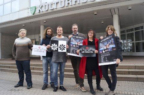 Klar for 19. utgave:   Prosjektkoordinator Steinar Husby (fv), videre styret for musikkspillet; Gunnar Bråten, Aksel Sæsbøe, Ola Ulvund, Eva HeidiLund Silset og leder Anne Bente Skare.