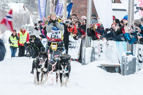 Sigrid Ekran ble andre dame som vinner Finnmarksløpet.