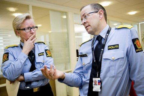 GJENNOMGANG:  Fungerende visepolitimester Mona Hertzenberg og politimester Bjørn Vandvik varsler en gjennomgang av etterforskingen i familievoldssaker. FOTO: GEIR EGIL SKOG