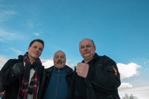 Jonas Nymo (Høyre), Torkjell Johnsen (Ap) og Torvald Aspenes (FrP) sier det er en tverrpolitisk kamp i Porsanger for å bevare Distriktspsykiatriks senter i Lakselv