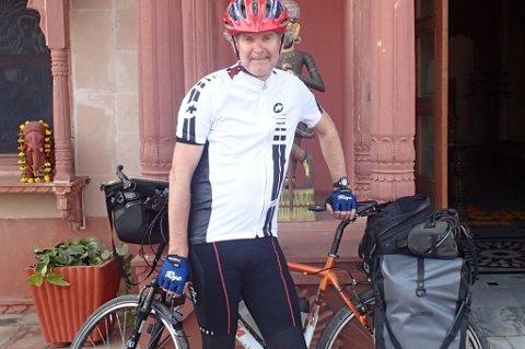 På tur: Fjellhamar-karen Knut Erling Wedul har opplevd store deler av verden fra sykkelsetet. Nå har han lagt ut på nye eventyr, som du etter hvert kan følge på rb.no.