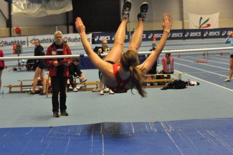 OVER: Borghild Hvesser Farsund strakk seg over 1,60.