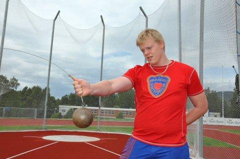 KULE: Kjetil Røste Ringen ble nummer tre i kule.