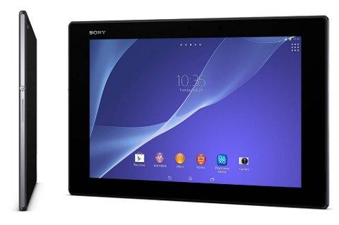 Tablet Z2 har svært lav vekt, og en bred ramme du kan holde i.