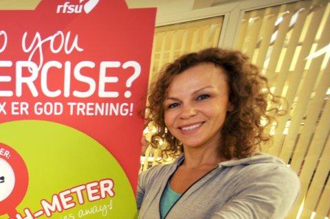 TRIMDRONNING: Kari Jaquesson vil kanskje kalle seg Kari Tjukkasson når hun kommer til treff på Quality til helgen