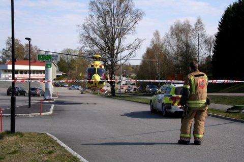 OMKOM: Den tragiske ulykken utenfor Amfisenteret endte opp med dødelig utfall. FOTO: GRETE SVENDSEN