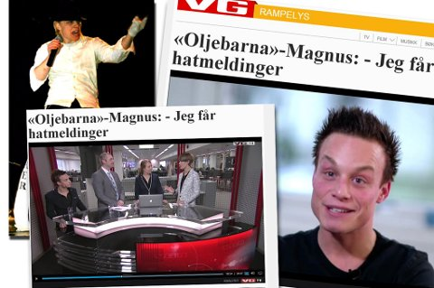 """STJERNEDRØM: Magnus Jackson Krogh, tidligere kokk, vil bli entertainer. Uttalelsene hans i """"Oljebarna"""" har provosert mange."""