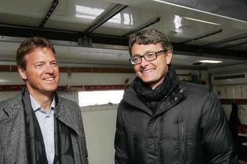 c3b2fbd5 I SMØREBUA: Ordfører Jens Johan Hjort og Aker-sjef Øyvind Eriksen er gamle  kjenninger