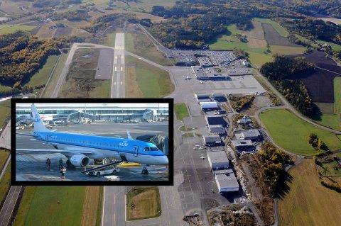 CITYHOPPER: Personen ble funnet i hjulbrønnen til en KLM Cityhopper Embraer 190. (Foto: Per Gilding / Wikimedia )
