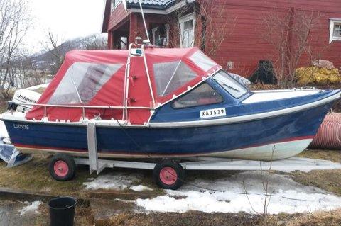 STJÅLET:  Har du sett denne båten som når er meldt stjålet i Tromsø?