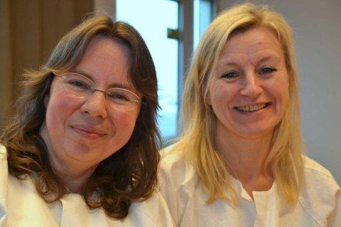 Medisinsk avdeling: Overlege Bettina Heermann (til venstre) og sykepleier Janne Løvdahl jobber på medisinsk avdeling på Nordlandssykehuset Lofoten. Lofot-Tidendes serie om sykehuset starter her.