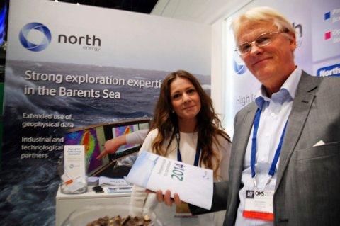 a242a491 EGEN STUDIE: North Energy presenterte egen arktisk studie under ONS i  Stavanger. Her samfunnskontakt