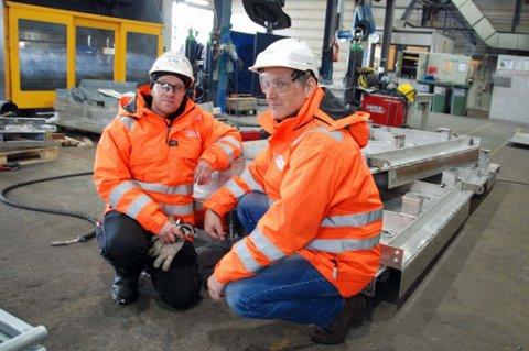 2181f269 KUTT: José Baleizao og daglig leder Bengt Holmgren ved Hammerfest  Industriservice (HIS).