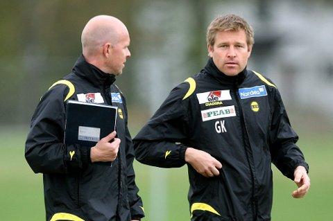 LSKs fysioterapeut Geir Kåsene (t.h.) er hentet til Legia Warsawa av tidligere LSK-trener Henning Berg.