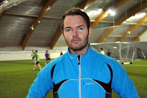 Fornøyd: FK Lofotens Tom SteffensenFoto: Kristian Rothli