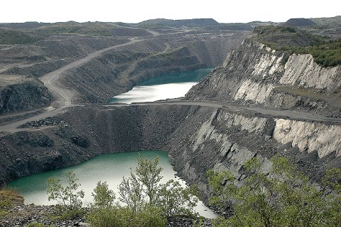Malmfeltet i Bjørnevatn   Sydvaranger gruve