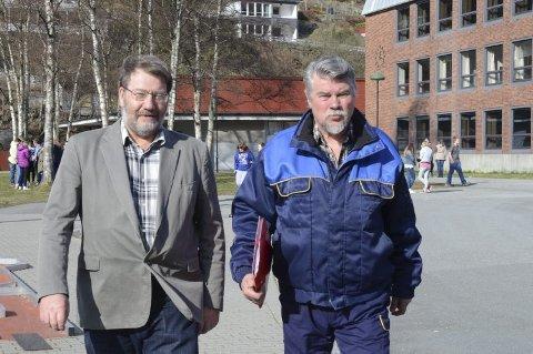 Knut O. Dale og Terje Kollbotn kjempar for Odda-modellen.