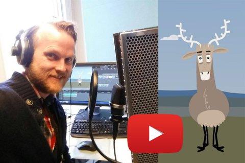 Jan Arne Stokmo fra Gravdal gir stemme til denne kjekke reinen i en informasjonsvideo fra NINA (Norsk institutt for naturforskning)