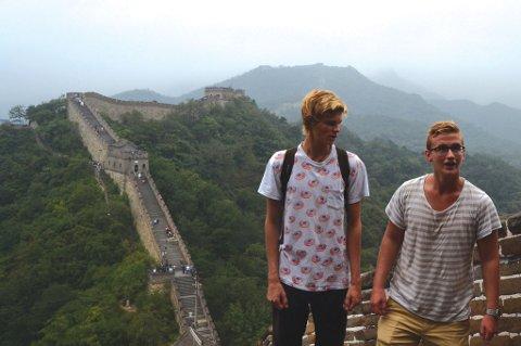 Oss to på den kinesiske mur - Kina.