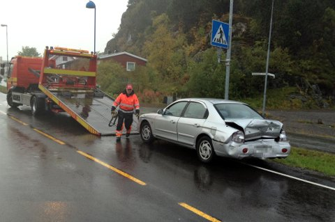 Kollisjon ved Statoil i Svolvær.