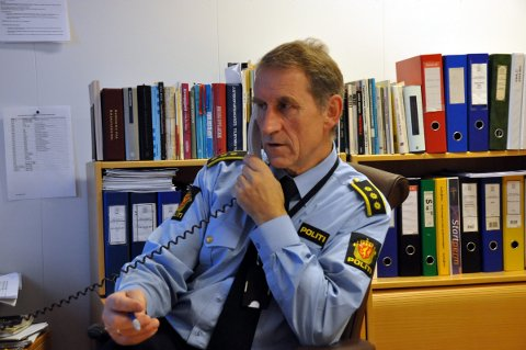 brukte hund: Lensmann Asbjørn Sjølie. Foto: Kai Nikolaisen