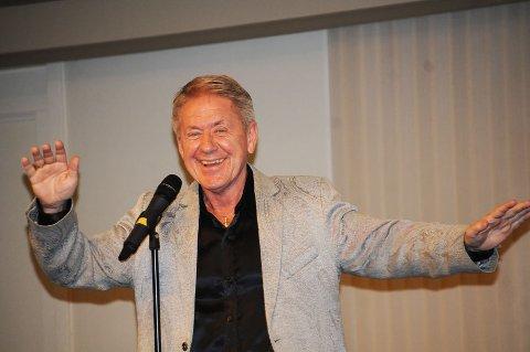 Rune Larsen var i velkjent slag under konserten.