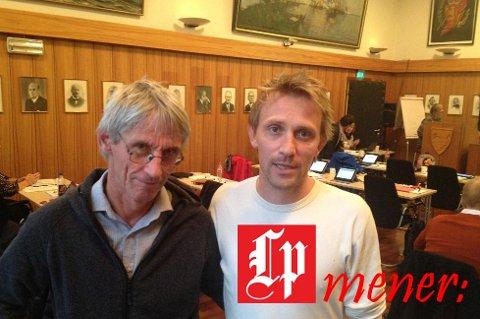Gunnar Aarstein og Martin Rørtveit Jenssen fra partiet Rødt brøt ut av posisjonen og stemte for Vågan som fortsatt selvstendig kommune.