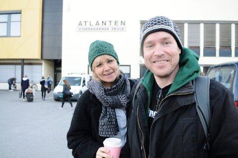 Spente: Regissør Eli Stålhand og komponist Knut Anders Vestad møttes på Atlanten videregående for første gjennomkjøring.