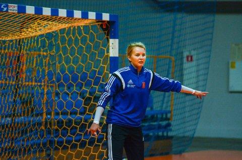 Sandra Toft før kampen i Polen sist helg