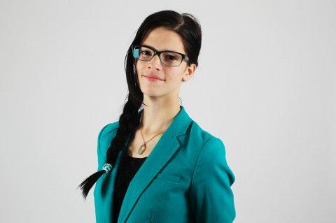 Eirill Teigstad er fylkesleder for Nordland Senterungdom. Hun håper kalenderen skal få fram kjernesakene til Senterpartiet.